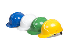 Set of protection helmets Stock Image