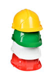 Set of protection helmets Stock Photography