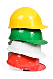 Set of protection helmets Royalty Free Stock Photo