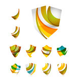 Set of protection shield logo concepts Stock Images