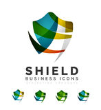 Set of protection shield logo concepts Stock Photo