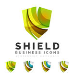 Set of protection shield logo concepts Stock Photos