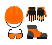 Set of protectiv work wear Royalty Free Stock Image