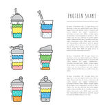 Set of protein shakes Stock Images
