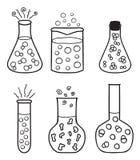 set provrör för kemikalie royaltyfri illustrationer