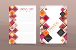 Set przód i tylne a4 rozmiaru strony, biznesowi sprawozdanie roczne projekta szablony Obrazy Stock