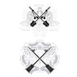 Set przecinające strzała z wzorem Modnisia rocznika stylu szablony dla biznesu, etykietki, logowie Zdjęcia Royalty Free