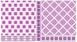 Set przecinający zaszyci wzory i granicy Zdjęcie Royalty Free