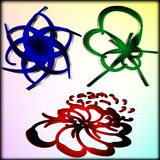 Set przedmioty abstrakcjonistyczni symbole Zdjęcie Royalty Free