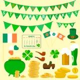 Set przedmioty dedykował St Patrick ` s dnia wakacje ilustracja wektor