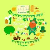 Set przedmioty dedykował St Patrick ` s dnia wakacje ilustracji