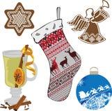 Set przedmioty target414_0_ nowego roku Obrazy Stock