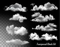 Set Przejrzyste chmury Zdjęcia Royalty Free