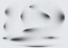 Set przejrzysty owalny cień z miękkich części krawędziami odizolowywać również zwrócić corel ilustracji wektora Zdjęcie Royalty Free