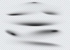 Set przejrzysty owalny cień z miękkimi krawędziami również zwrócić corel ilustracji wektora Zdjęcia Stock