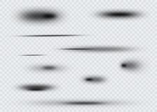 Set przejrzysty owalny cień z miękkimi krawędziami również zwrócić corel ilustracji wektora Fotografia Royalty Free