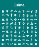 Set przestępstwo proste ikony royalty ilustracja