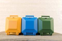 Set przetwarza śmieciarskich kosze Zdjęcie Stock