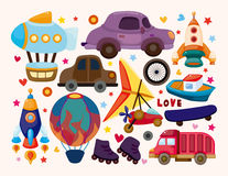 Set przewiezione ikony Fotografia Royalty Free