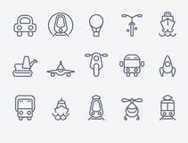 Set 15 Przewiezionych ikon Obrazy Stock