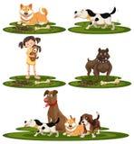 Set psi traken ilustracji