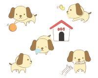 Set psy w różnorodnych pozycjach Fotografia Stock