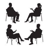 Set psycholog i klient psychotherapy Psychiczna lecznicza sesja Psychologiczny doradzać mężczyzna kobieta Zdjęcie Royalty Free