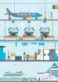 Set of public passenger transport . Royalty Free Stock Images