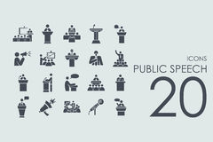Set of public speech icons Royalty Free Stock Photo
