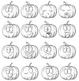 Set of pumpkin Royalty Free Stock Image