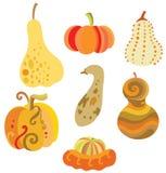 Set of Pumpkins Royalty Free Stock Photo