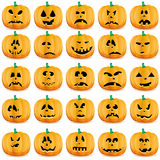 Set of pumpkins Stock Images