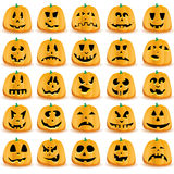 Set of pumpkins Royalty Free Stock Image