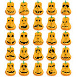 Set of pumpkins Royalty Free Stock Photos