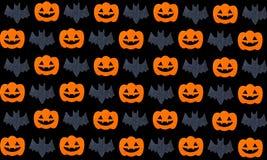 Set of pumpkins and Bats Royalty Free Stock Photo