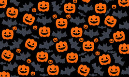 Set of pumpkins and Bats Stock Photo
