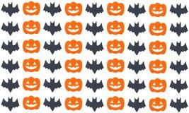 Set of pumpkins and Bats Royalty Free Stock Image