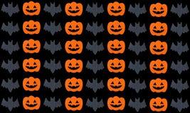 Set of pumpkins and Bats Royalty Free Stock Photography