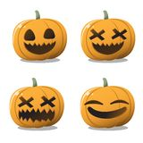 Pumpkin halloween set fun and cute. vector illustration