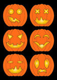 Set of pumpkins in color Stock Photography