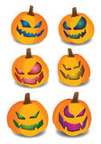Set of pumpkins for Halloween Royalty Free Stock Image