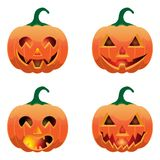 Set of pumpkins for Halloween. Set of cartoon cute pumpkins for Halloween vector illustration