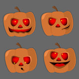 Set pumpkins for Halloween different characters vector. Set pumpkins for Halloween , different characters , vector stock illustration