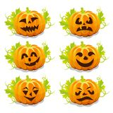 Set of pumpkins for Halloween Stock Image
