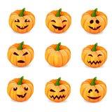 Set pumpkins for Halloween Royalty Free Stock Photo