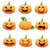 Set pumpkins for Halloween. Royalty Free Stock Photo