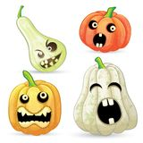 Set pumpkins for Halloween. Isolated on white background royalty free illustration