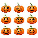 Set pumpkins for Halloween. Royalty Free Stock Photos