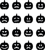 Set pumpkins for Halloween Stock Images