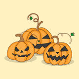 Set pumpkins for Halloween. Vector illustration in bright colors Stock Images